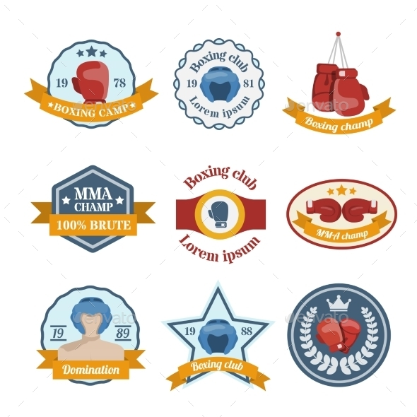 GraphicRiver Boxing Label Set 8899163