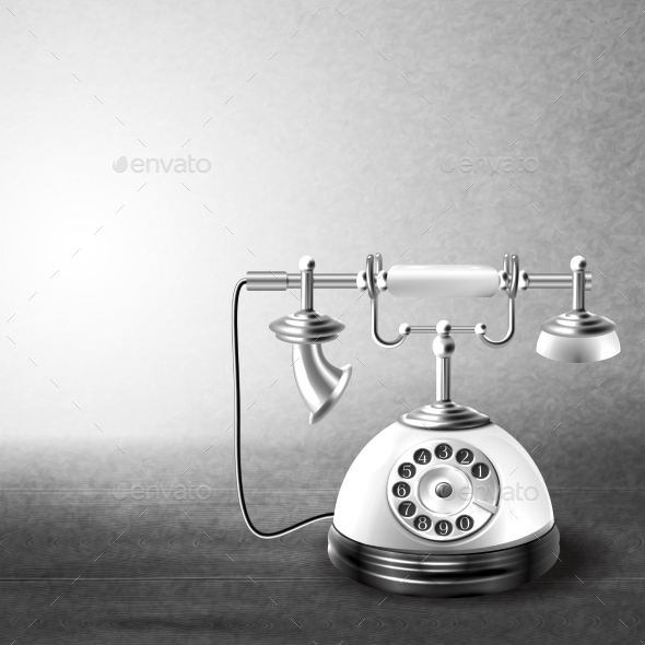 GraphicRiver Old Black and White Telephone 8899184