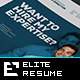 Elite Resume/CV - GraphicRiver Item for Sale