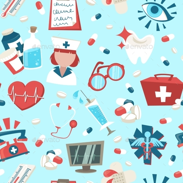 GraphicRiver Hospital Seamless Pattern 8899211