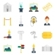Museum Icons Flat - GraphicRiver Item for Sale