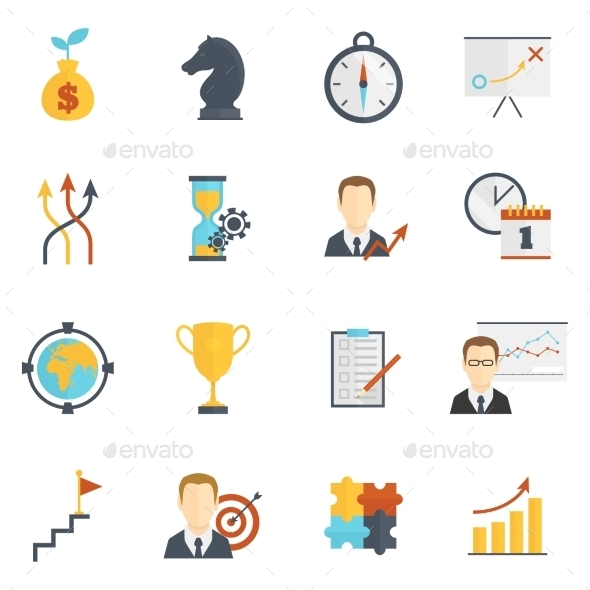 GraphicRiver Business Strategy Planning Icons 8899220