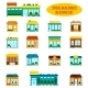Store Building Icons Set - GraphicRiver Item for Sale