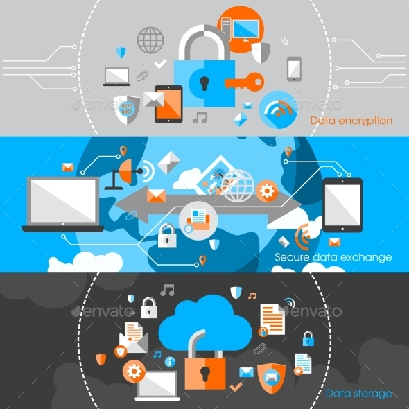 GraphicRiver Data Protection Security Banners 8899243