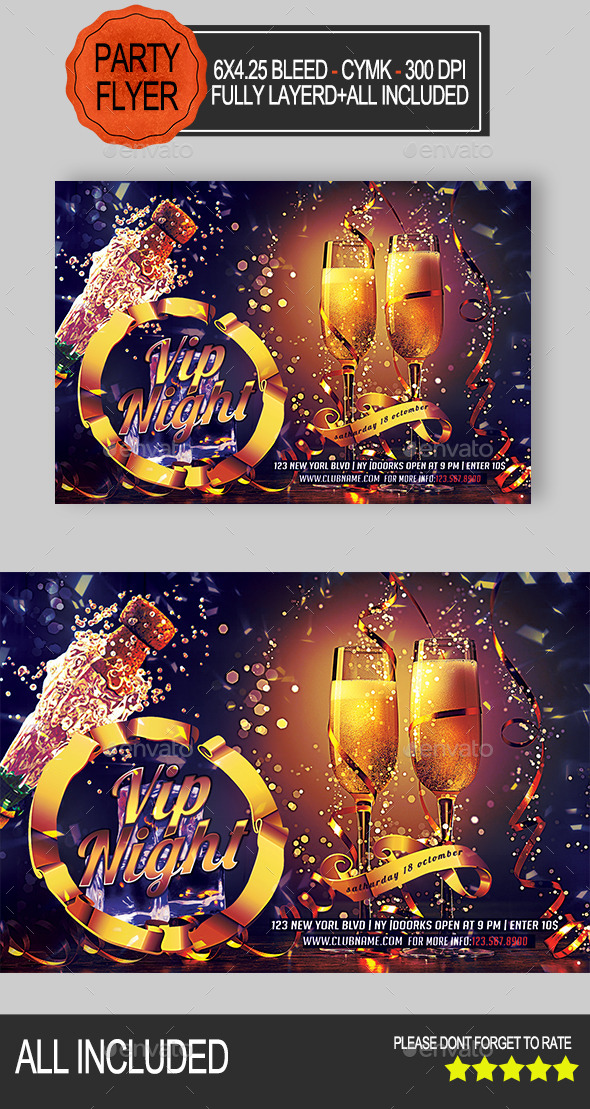 GraphicRiver Vip Party Flyer 8899256