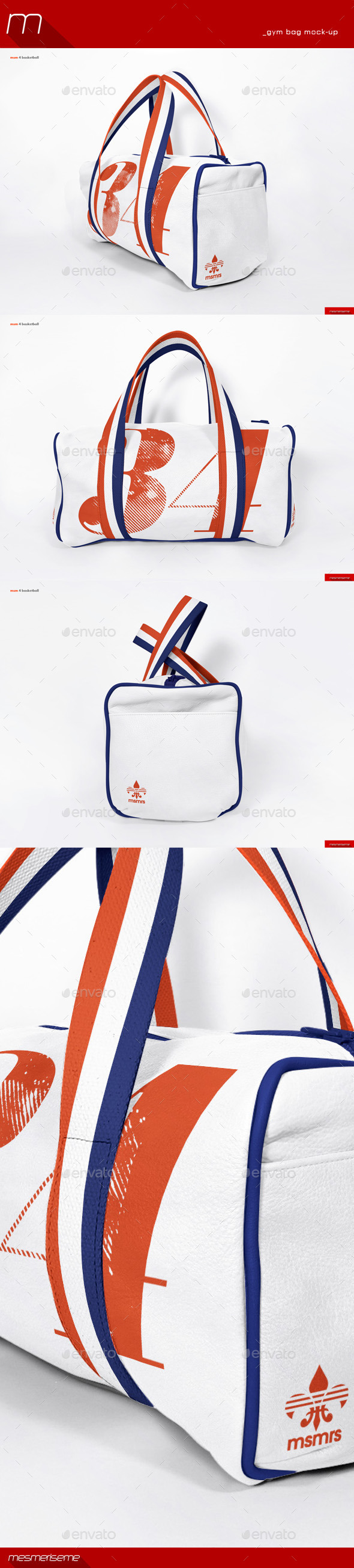 GraphicRiver Gym Bag Mock-Up 8899524