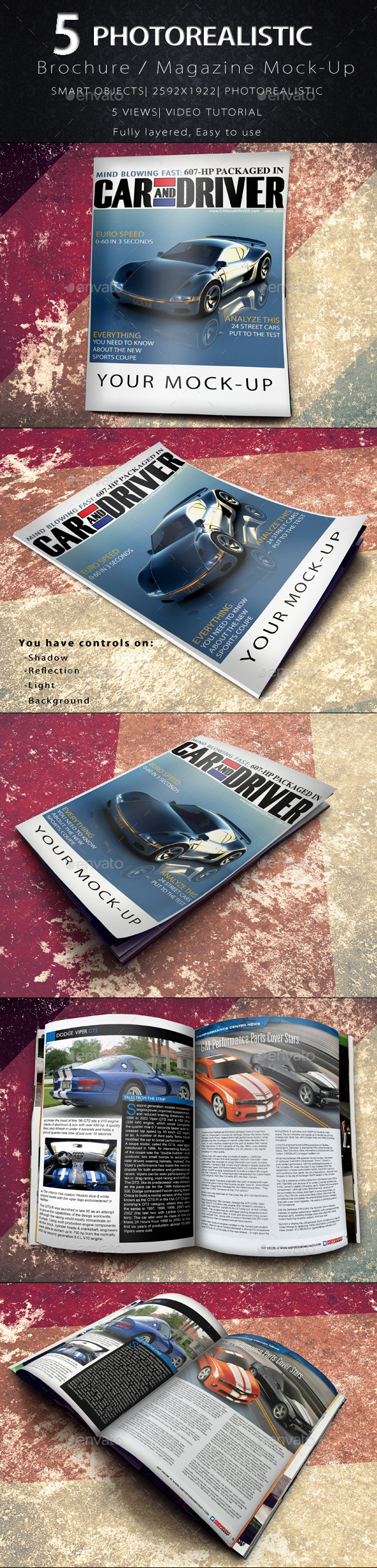 GraphicRiver Brochure Magazine Mock-Up 8899548