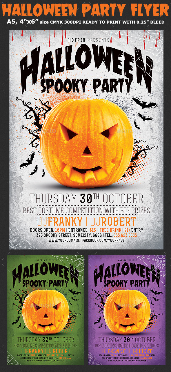 GraphicRiver Minimal Halloween Party Flyer 8899550