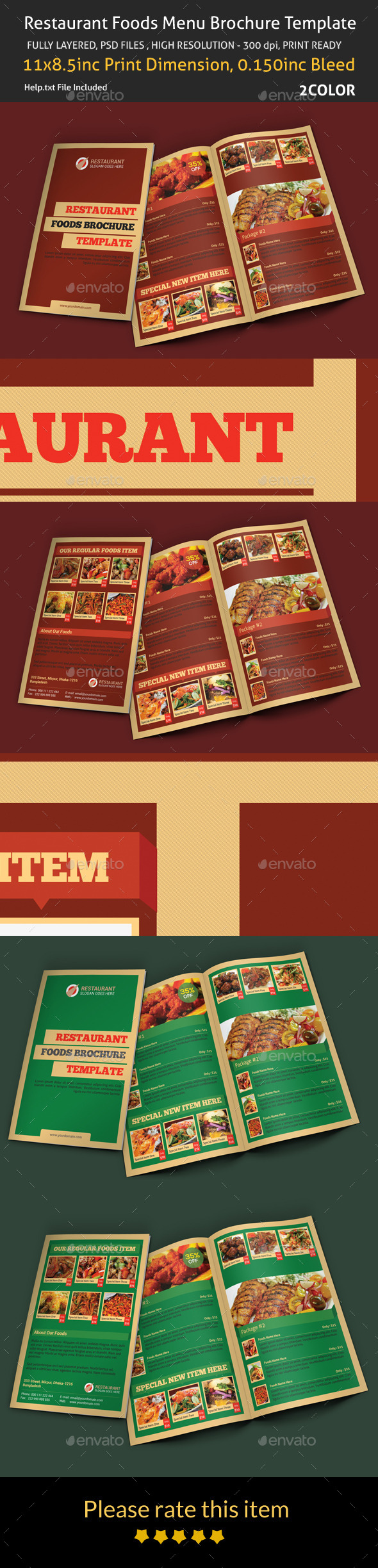 GraphicRiver Restaurant Foods Menu Brochure Template 8899561
