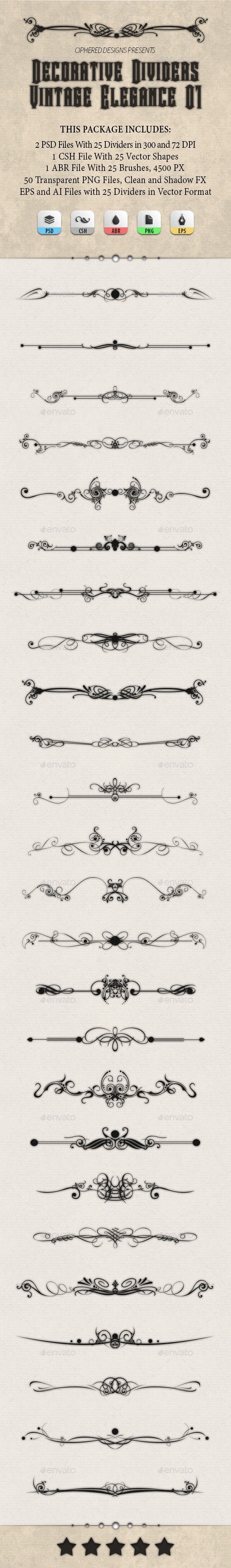 GraphicRiver Decorative Dividers Vintage Elegance 01 8899876