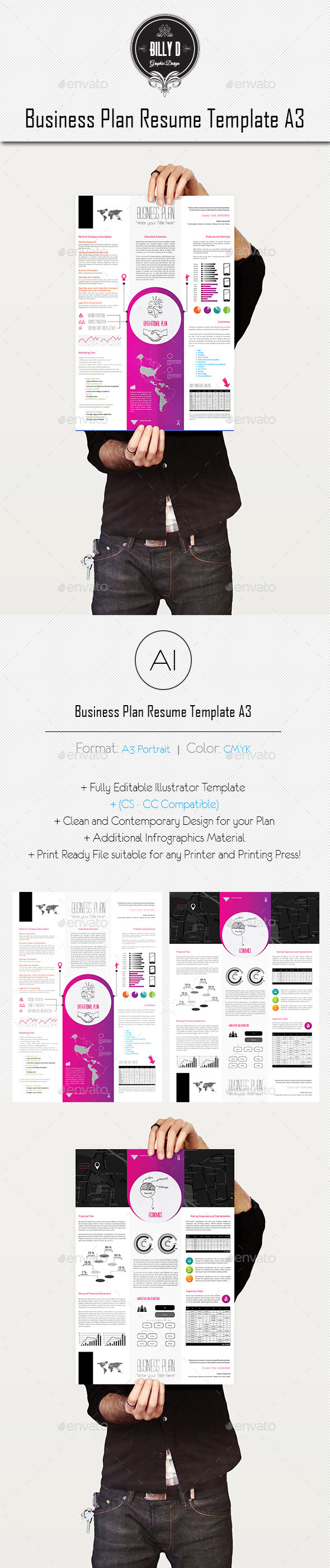 GraphicRiver Business Plan Resume Template A3 8901699