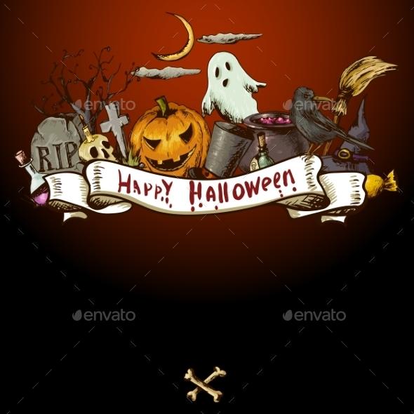 GraphicRiver Halloween Invitation Card 8901962