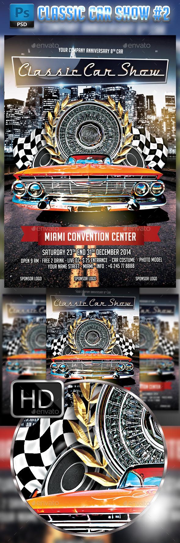 GraphicRiver Classic Car Show flyer #2 8902019