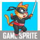 Ninja Cat Game Sprite - GraphicRiver Item for Sale