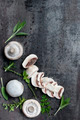 Mushrooms and Herbs Food Background - PhotoDune Item for Sale