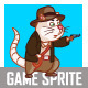 Adventurer Cat Game Sprite - GraphicRiver Item for Sale