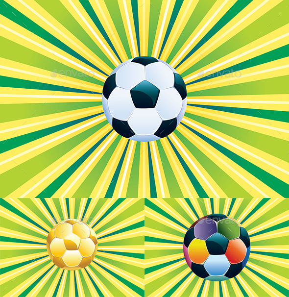 GraphicRiver Soccer Ball on Green Background 8902357