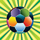 Soccer Ball on Green Background - GraphicRiver Item for Sale