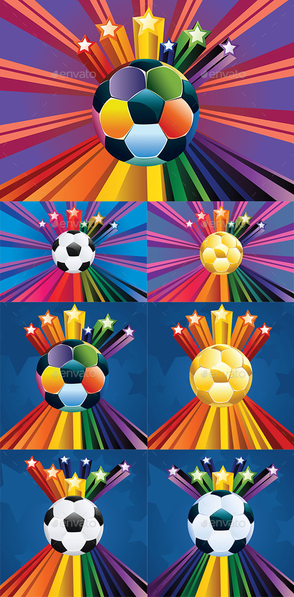 GraphicRiver Soccer Ball with Stars 8902372