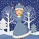 Winter Skating Girl - GraphicRiver Item for Sale