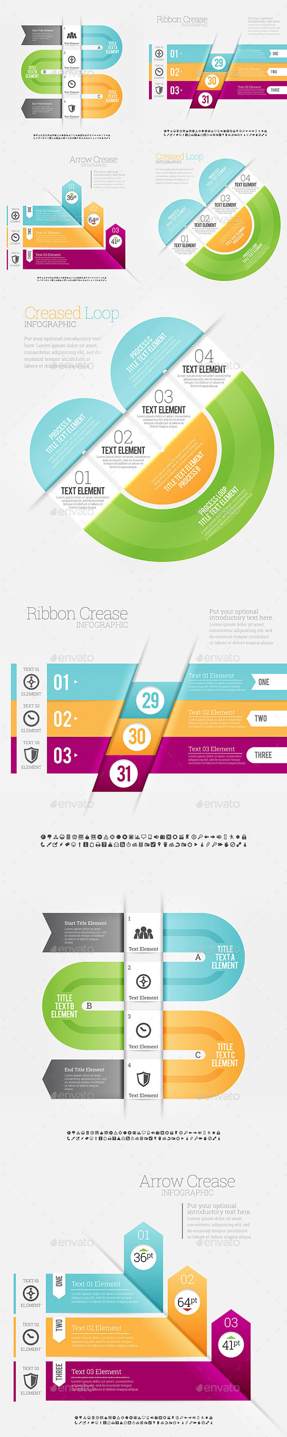 GraphicRiver Infographic 4 Set 8902419