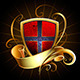 Dark Shield with Golden Ribbon - GraphicRiver Item for Sale