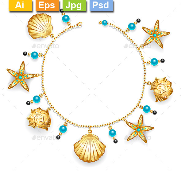 GraphicRiver Bracelet with Seashells 8905086
