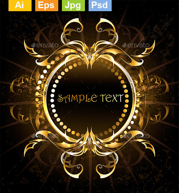 GraphicRiver Golden Tribal Frame 8905200