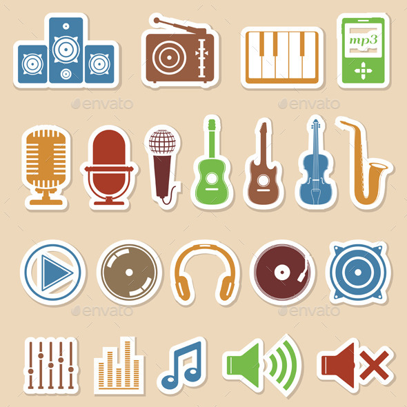 GraphicRiver Musical Icons 8905330