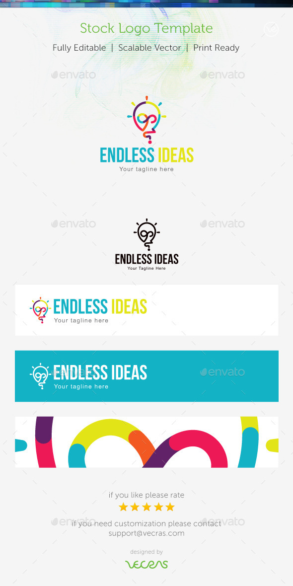 GraphicRiver Endless Ideas Stock Logo Template 8905345