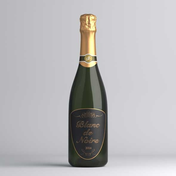 Sparkling Wine Bottle - 3DOcean Item for Sale