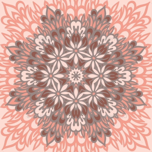 GraphicRiver Flower Mandala Abstract Background 8905371
