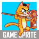 Cannibal Cat Game Sprite - GraphicRiver Item for Sale