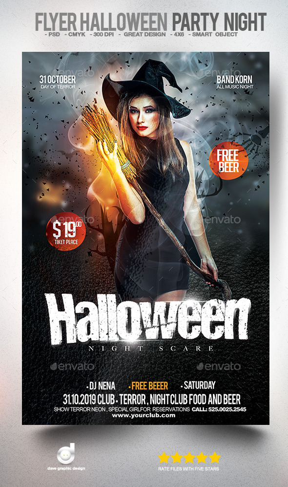 Flyer Halloween Party Night