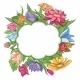 Bright Flower Frame - GraphicRiver Item for Sale