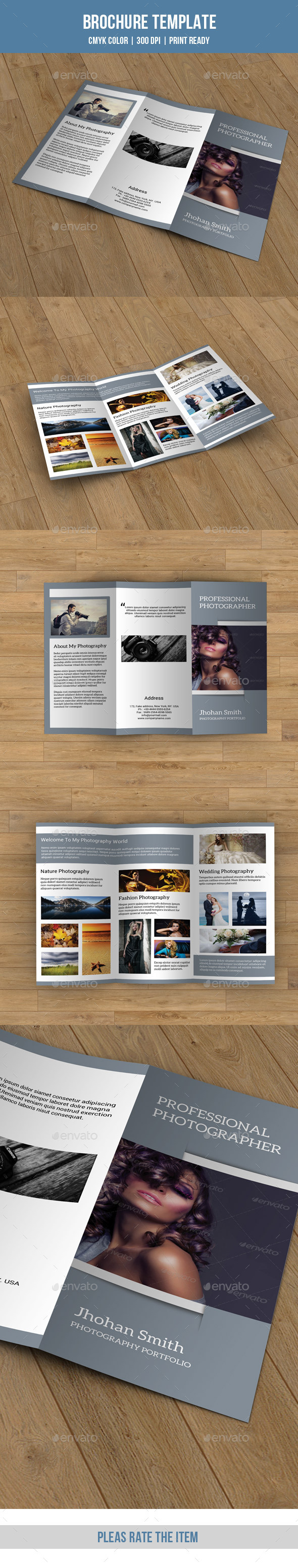 GraphicRiver Trifold Brochure for Photography-V68 8905637