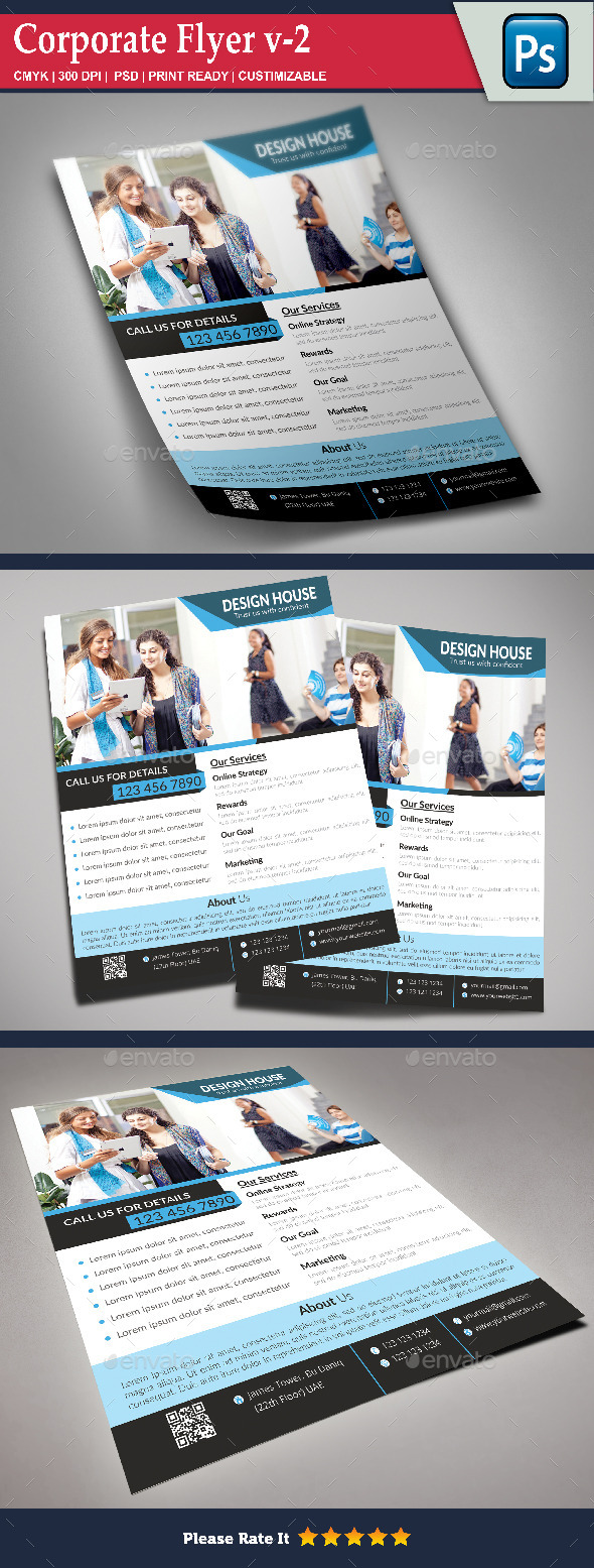 GraphicRiver Corporate Flyer v-2 8905692