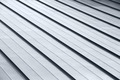 Diagonal corrugated metal gray rooftop surface - PhotoDune Item for Sale