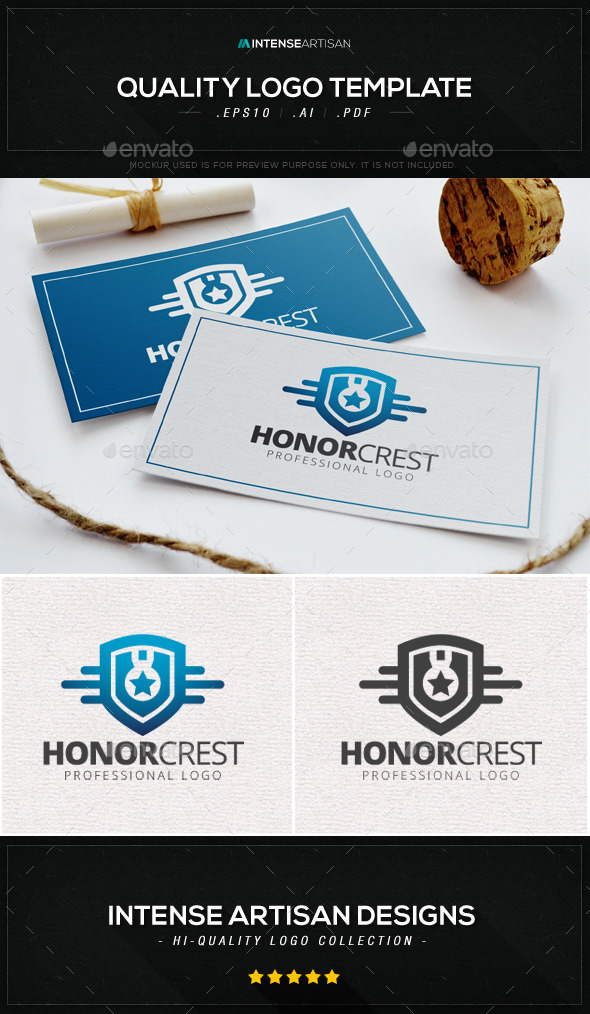 GraphicRiver Honor Crest Logo Template 8905924