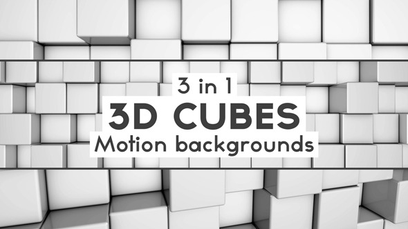 3D Cubes Backgrounds Pack 01