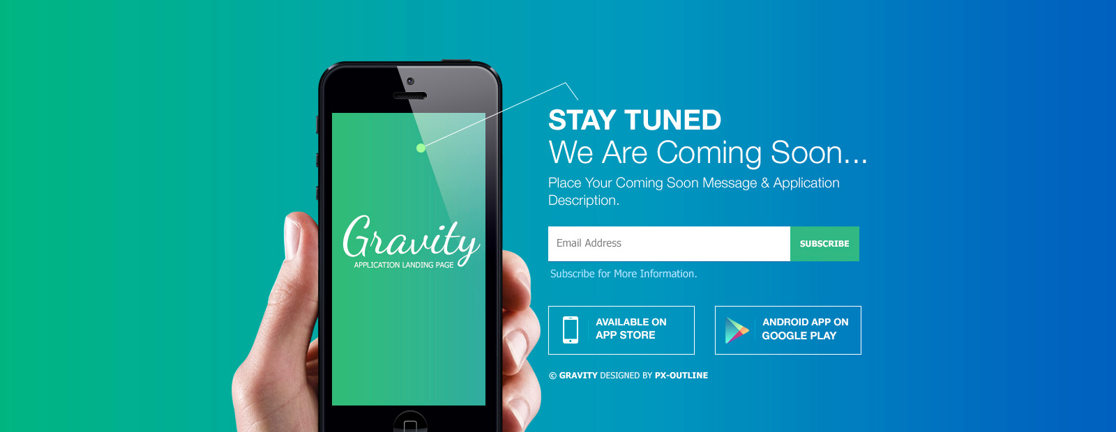 Gravity Mobile App Landing Page Responsive Html By Pxoutline Themeforest