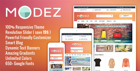 ThemeForest MODEZ Responsive Prestashop 1.6 Theme & Blog 8318914