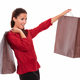 Stylish adult lady with paper bag - PhotoDune Item for Sale