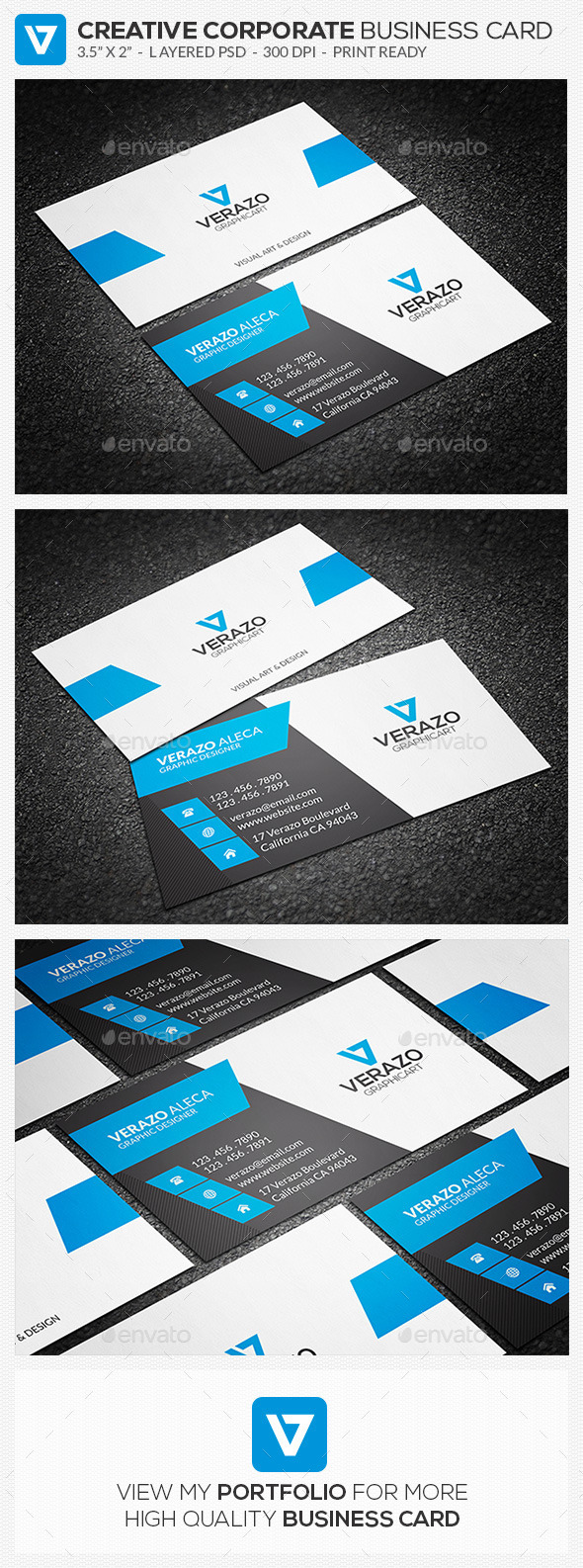 GraphicRiver Creative Corporate Business Card 60 8906495