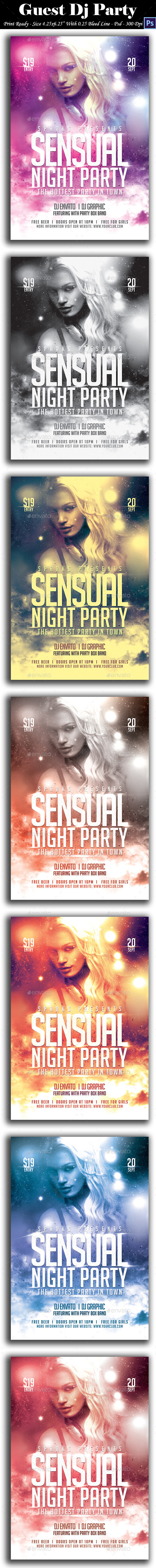 GraphicRiver Sensual Night Party Flyer 8906533