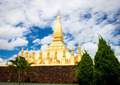 The golden pagoda wat Phra That Luang in Vientiane. - PhotoDune Item for Sale