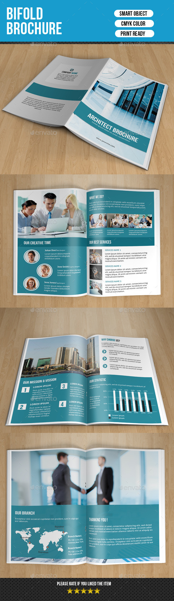 GraphicRiver Bifold Business Brochure-V137 8906714