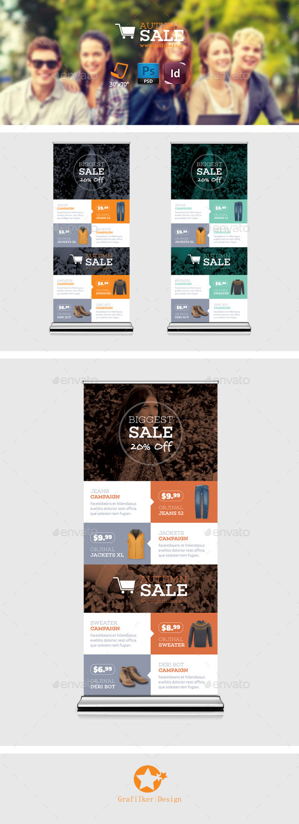 GraphicRiver Shopping Roll-Up Templates 8906854