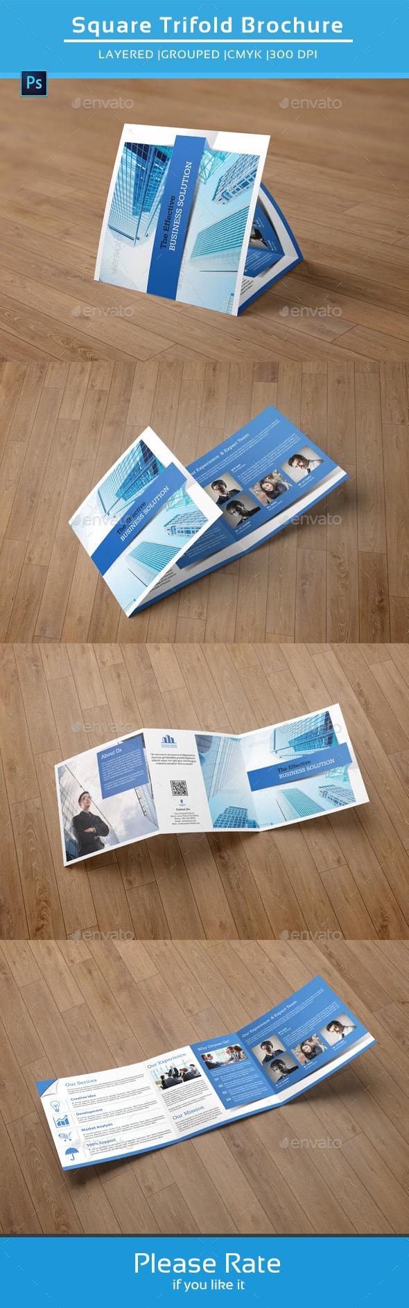 GraphicRiver Square Trifold Business Brochure-V37 8906927