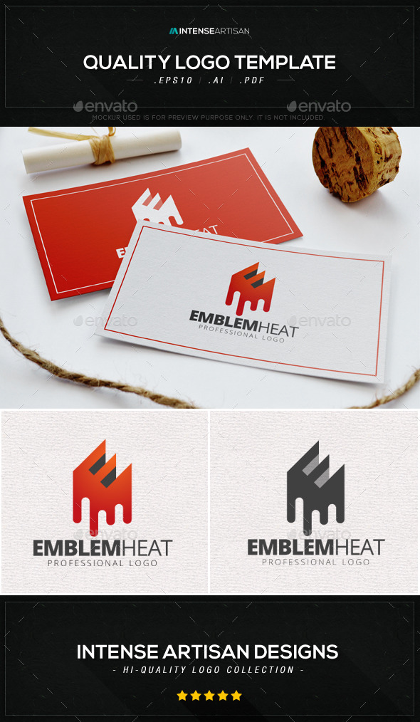 GraphicRiver Emblem Heat Logo Template 8906948